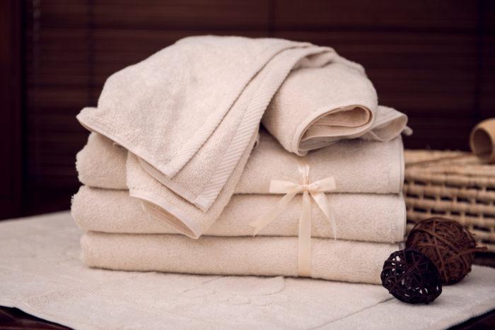 Ręczniki naturalne w odcieniu ecru