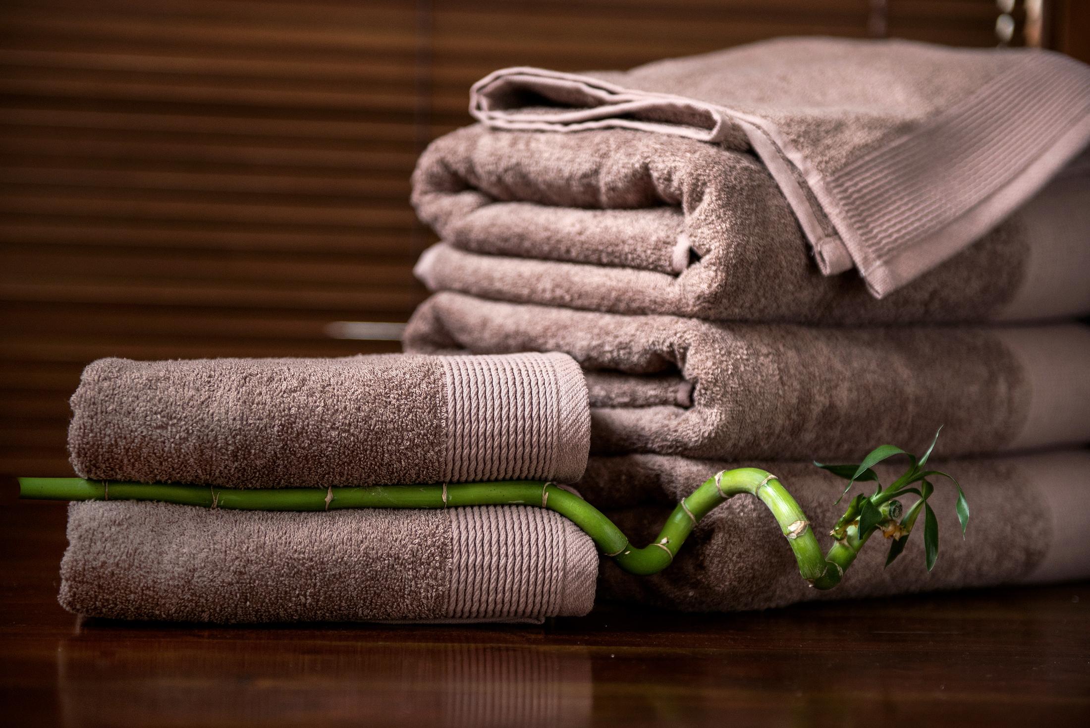Ręcznik bambusowy beżowy